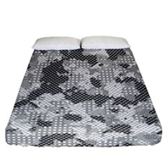Camouflage Patterns  Fitted Sheet (queen Size) by Simbadda