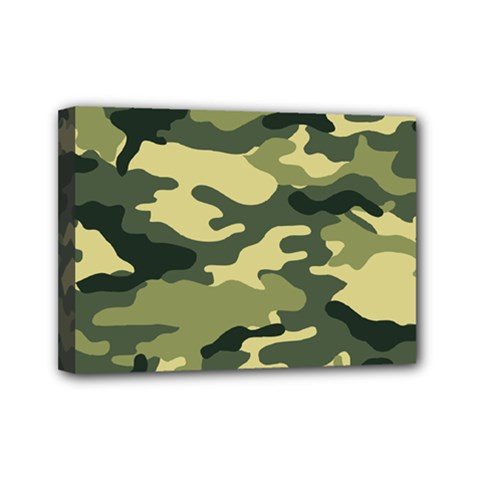 Camouflage Camo Pattern Mini Canvas 7  X 5  by Simbadda