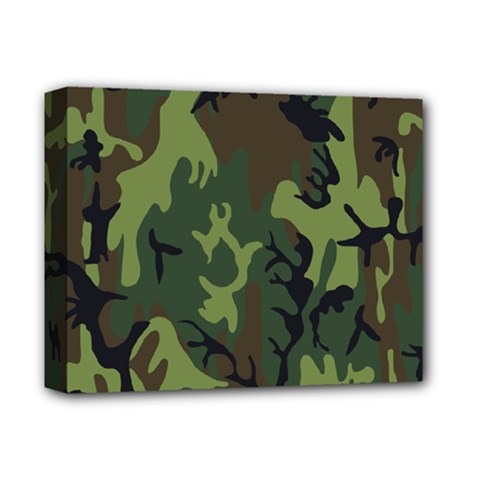 Military Camouflage Pattern Deluxe Canvas 14  X 11  by Simbadda
