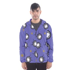 Rockets In The Blue Sky Surrounded Hooded Wind Breaker (men) by Simbadda