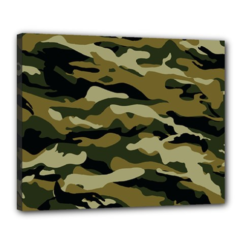 Military Vector Pattern Texture Canvas 20  X 16  by Simbadda