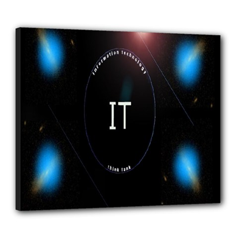This Is An It Logo Canvas 24  X 20  by Simbadda