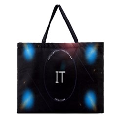 This Is An It Logo Zipper Large Tote Bag by Simbadda