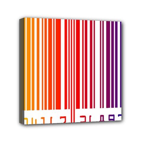 Colorful Gradient Barcode Mini Canvas 6  X 6  by Simbadda