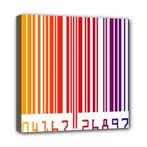 Colorful Gradient Barcode Mini Canvas 8  X 8  by Simbadda