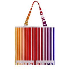 Colorful Gradient Barcode Zipper Grocery Tote Bag by Simbadda