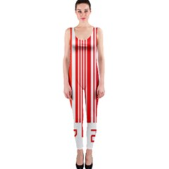 Colorful Gradient Barcode Onepiece Catsuit