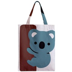 Animal Koala Zipper Classic Tote Bag by Alisyart