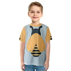 Animals Bee Wasp Black Yellow Fly Kids  Sport Mesh Tee by Alisyart