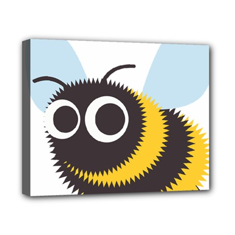 Bee Wasp Face Sinister Eye Fly Canvas 10  X 8  by Alisyart