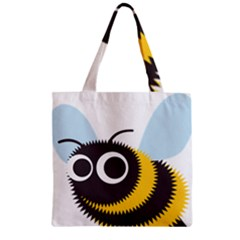 Bee Wasp Face Sinister Eye Fly Zipper Grocery Tote Bag by Alisyart