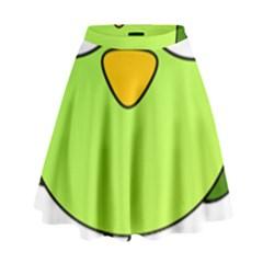 Bird Big Eyes Green High Waist Skirt by Alisyart