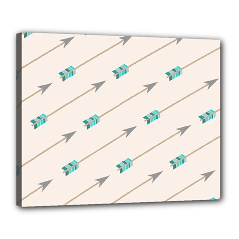 Arrow Quilt Canvas 20  X 16  by Alisyart