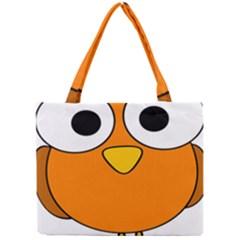 Bird Big Eyes Orange Mini Tote Bag by Alisyart