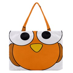 Bird Big Eyes Orange Medium Zipper Tote Bag by Alisyart
