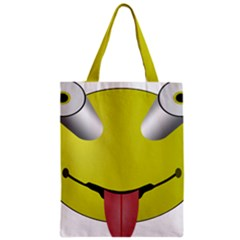 Bug Eye Tounge Zipper Classic Tote Bag by Alisyart