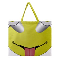 Bug Eye Tounge Zipper Large Tote Bag by Alisyart