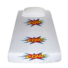 Boom Pow Pop Sign Fitted Sheet (single Size) by Alisyart