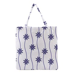 Geometric Flower Seamless Repeating Pattern With Curvy Lines Grocery Tote Bag by Simbadda