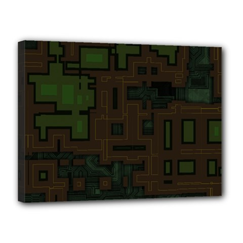 Circuit Board A Completely Seamless Background Design Canvas 16  X 12