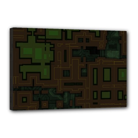 Circuit Board A Completely Seamless Background Design Canvas 18  X 12