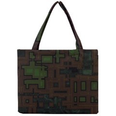 Circuit Board A Completely Seamless Background Design Mini Tote Bag by Simbadda
