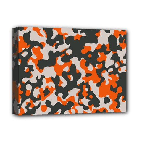 Camouflage Texture Patterns Deluxe Canvas 16  X 12   by Simbadda