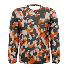 Camouflage Texture Patterns Men s Long Sleeve Tee by Simbadda