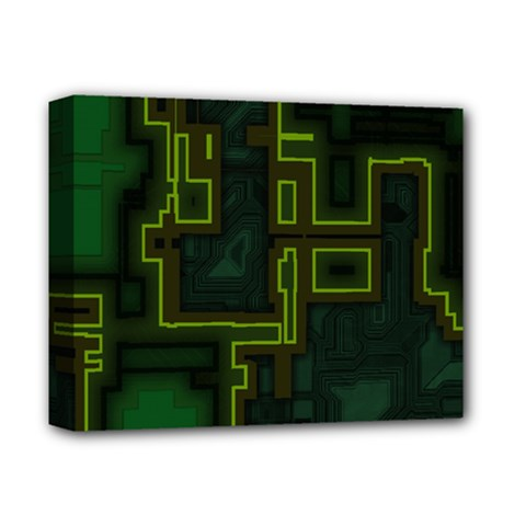 A Completely Seamless Background Design Circuit Board Deluxe Canvas 14  X 11  by Simbadda