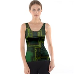 A Completely Seamless Background Design Circuit Board Tank Top by Simbadda