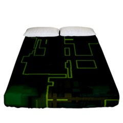A Completely Seamless Background Design Circuit Board Fitted Sheet (california King Size) by Simbadda