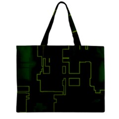 A Completely Seamless Background Design Circuit Board Zipper Mini Tote Bag by Simbadda