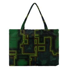 A Completely Seamless Background Design Circuit Board Medium Tote Bag by Simbadda