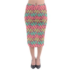 Abstract Seamless Abstract Background Pattern Midi Pencil Skirt by Simbadda