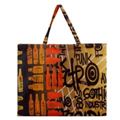 Graffiti Bottle Art Zipper Large Tote Bag by Simbadda