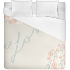 Love Card Flowers Duvet Cover (king Size)
