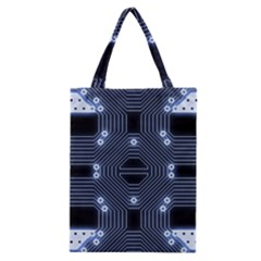 A Completely Seamless Tile Able Techy Circuit Background Classic Tote Bag by Simbadda