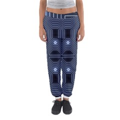 A Completely Seamless Tile Able Techy Circuit Background Women s Jogger Sweatpants by Simbadda