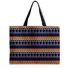 Seamless Abstract Elegant Background Pattern Zipper Mini Tote Bag by Simbadda