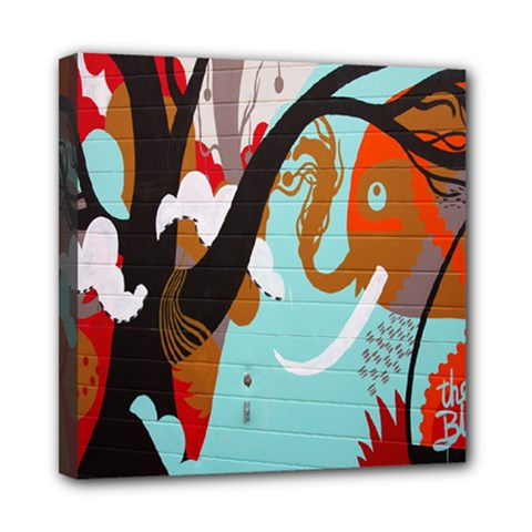 Colorful Graffiti In Amsterdam Mini Canvas 8  X 8  by Simbadda