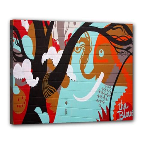 Colorful Graffiti In Amsterdam Canvas 20  X 16  by Simbadda