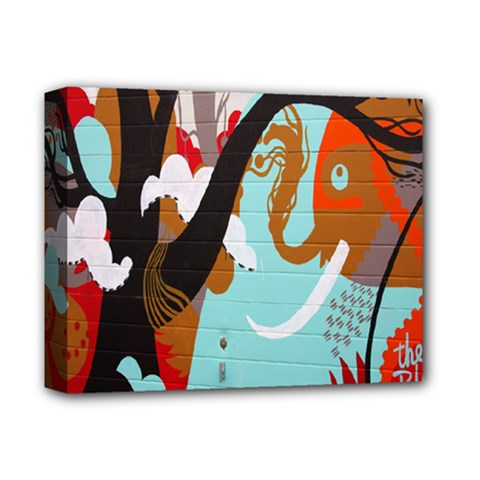 Colorful Graffiti In Amsterdam Deluxe Canvas 14  X 11  by Simbadda