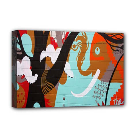 Colorful Graffiti In Amsterdam Deluxe Canvas 18  X 12   by Simbadda