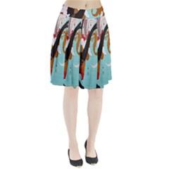 Colorful Graffiti In Amsterdam Pleated Skirt by Simbadda