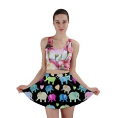 Cute Elephants  Mini Skirt by Valentinaart