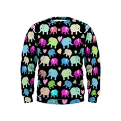 Cute Elephants  Kids  Sweatshirt by Valentinaart