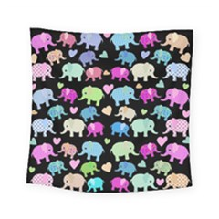 Cute Elephants  Square Tapestry (small) by Valentinaart