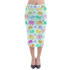 Cute Elephants  Midi Pencil Skirt by Valentinaart