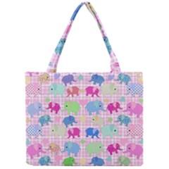 Cute Elephants  Mini Tote Bag by Valentinaart