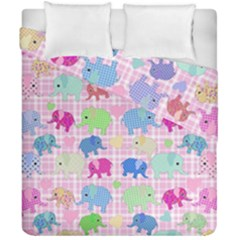 Cute Elephants  Duvet Cover Double Side (california King Size) by Valentinaart
